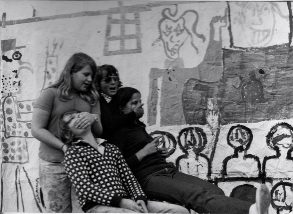 Andrea and his first theatre group: Free Children Movement - Venice - 1975