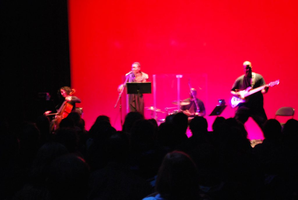 Clarice Jensen-Helga Davis-Abe Fogle-Fred Cash Jr. opening Mephisto's Songs - Apollo Theater NYC - 2010