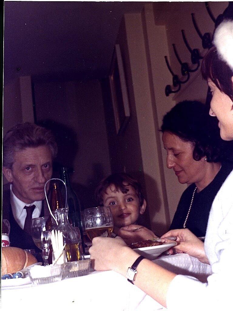 pranzo con nonni e mamma