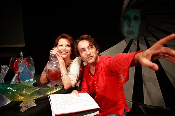 con Claudia Cardinale